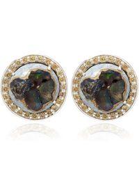 Stephen Dweck - Metallic Silver Fire Opal Clip-on Earrings - Lyst