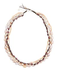 Nakamol - Metallic Multi-strand Pearl Necklace - Lyst