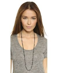 Chan Luu | Leather Bead Necklace - Black | Lyst