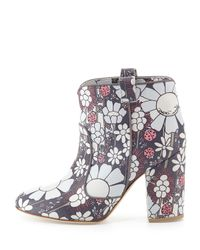 Laurence Dacade - Pink Pete Floral-Print Ankle Boots - Lyst