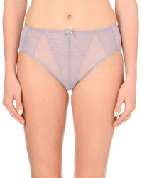 Wacoal | Gray Retro Chic High-cut Briefs | Lyst
