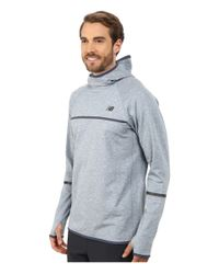 New Balance - Blue Nb Heat Pullover Hoodie for Men - Lyst