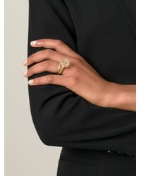 Bjorg - Metallic Herkimer Claw Ring - Lyst