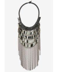 Nasty Gal | Metallic Nikita Fringe Necklace | Lyst