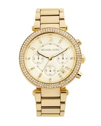 MICHAEL Michael Kors | Metallic Michael Kors 'parker' Chronograph Bracelet Watch | Lyst