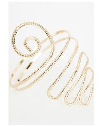 Missguided | Metallic Weave Festival Arm Cuff Gold | Lyst