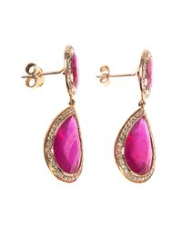 Jade Jagger | Purple Diamond, Ruby & Yellow-Gold Earrings | Lyst