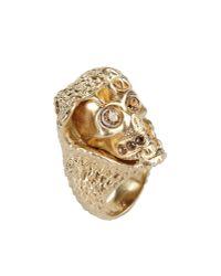 Alexander McQueen Metallic Ring