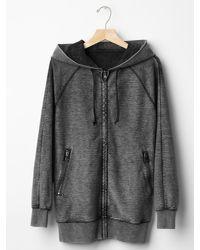 Gap - Black Washed Zip Hoodie - Lyst