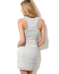 Aryn K. | Gray French Terry Tank Dress | Lyst