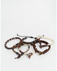 ASOS | Bracelet Pack In Brown for Men | Lyst
