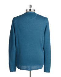 Strellson | Blue V-Neck Knit Pullover for Men | Lyst