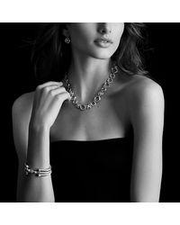 David Yurman | Cable Classics Bracelet With Hampton Blue Topaz And Diamonds, 5mm | Lyst