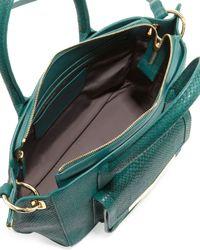 Time's Arrow - Green Jo Mini Serpentprint Tote Bag Emerald - Lyst