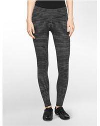 Calvin Klein - Black White Label Performance Striped Print Leggings - Lyst