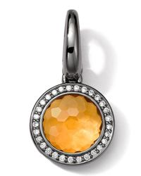 Ippolita | Black Sterling Silver Citrine & Diamond Lollipop Charm | Lyst