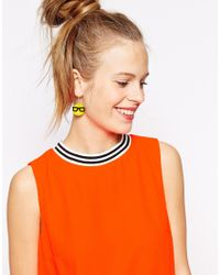 Tatty Devine - Yellow Emoji Earrings Exclusive - Lyst
