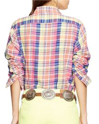 Polo Ralph Lauren - Pink Relaxed-fit Cotton Plaid Shirt - Lyst