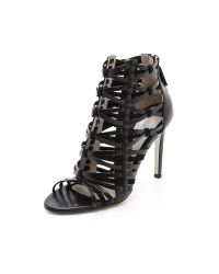 Jason Wu | Black Leather Suede Woven Sandals | Lyst