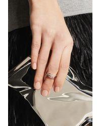 Arme De L'Amour | Metallic Chevron Silver Phalanx Ring | Lyst