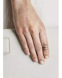 Katie Rowland - Pink 18Kt Rose Gold Vermeil Twisted Ring - Lyst