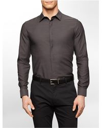 Calvin Klein - Black White Label Classic Fit Chambray Subtle Stripe Liquid Cotton Shirt for Men - Lyst