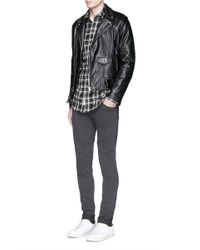 J Brand | Blue 'bearden Moto' Quilted Knee Pants for Men | Lyst