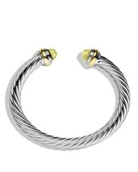 David Yurman | Yellow Cable Classics Bracelet With Lemon Citrine And Gold | Lyst
