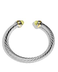 David Yurman - Yellow Cable Classics Bracelet With Lemon Citrine And Gold - Lyst