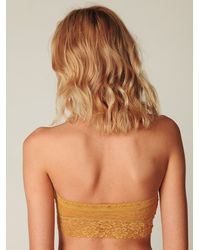 Free People | Orange Lace Trim Bandeau | Lyst