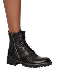 BB Bruno Bordese - Black Amphibious Calf-skin Ankle Boots - Lyst