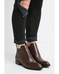 Forever 21 | Brown Faux Leather Chelsea Boots | Lyst