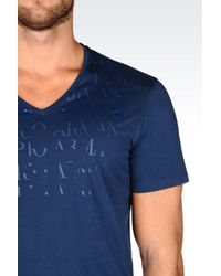 Emporio Armani - Blue Jersey T-shirt for Men - Lyst