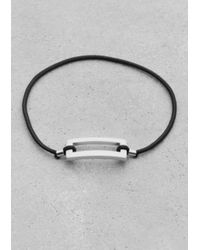 & Other Stories | Black Elastic Brass Bracelet | Lyst