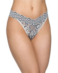 Hanky Panky | Black Cross Dye Original Rise Thong | Lyst