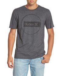 Hurley Gray 'Construct - Premium' Graphic T-Shirt for men