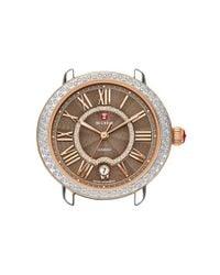 Michele - Metallic 'serein 16' Diamond Watch Case - Lyst