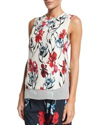 Thakoon - Pink Layered Floral-print Sleeveless Top - Lyst