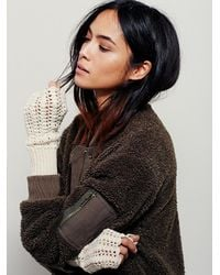 Free People | Natural Womens Lacey Crochet Armwarmer | Lyst