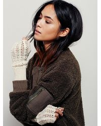 Free People - Natural Womens Lacey Crochet Armwarmer - Lyst