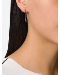 Rosa Maria - Metallic Diamond Embellished Curved Earrings - Lyst
