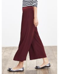 Banana Republic | Red Drapey Gaucho Pant | Lyst
