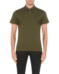 Michael Kors | Green Liquid Cotton-jersey Polo Shirt for Men | Lyst