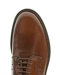 Tod's - Brown Leather Lace-Up Shoes for Men - Lyst