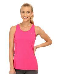 Nike - Pink Dri-fit™ Contour Tank Top - Lyst