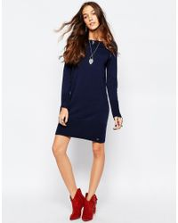 Esprit - Blue Knitted Dress - Lyst