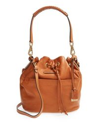 Frye | Brown 'jenny' Leather Drawstring Satchel | Lyst