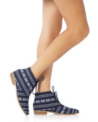 Forever 21 - Blue Perfect Printed Booties - Lyst