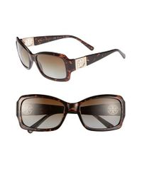 Tory Burch | Brown 56mm Polarized Sunglasses | Lyst