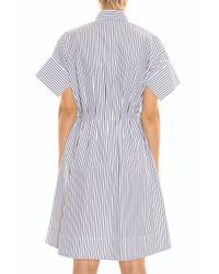 Victoria, Victoria Beckham - White Striped Dress - Lyst